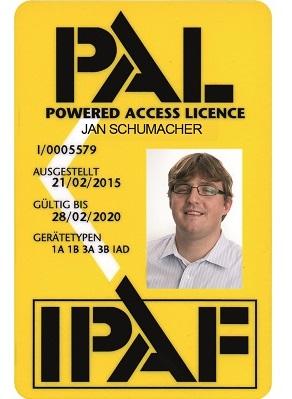 IPAF PAL-Card