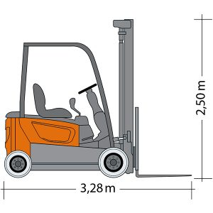 Picture Forklift GSE 20-5500 с размерами