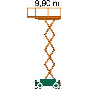 Arbeitsdiagramm SB 10-1,7 AS Scherenarbeitsbühne mit Arbeitshöhe