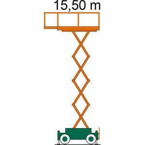 Arbeitsdiagramm SB 15,5-2,4 AS Scherenbühne