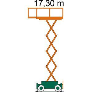 Arbeitsdiagramm Scherenbühne SB 17-2,2 AS