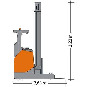 Seitenansicht Schubmaststapler SMS 16-8000