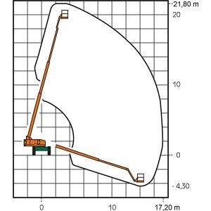 Arbeitsdiagramm ST 22 KA I Teleskop-Arbeitsbühne