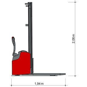 Vedere laterală Transpaleta manuală DSE 16-4700