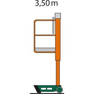 Arbeitsabmessungen IL 3,5 Indoorlift