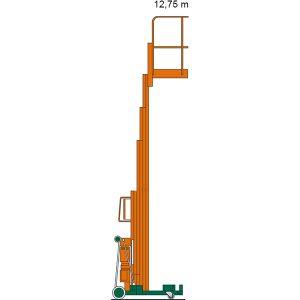 Diagramm mit Arbeitshöhe des Personenlifts ILS 12,75
