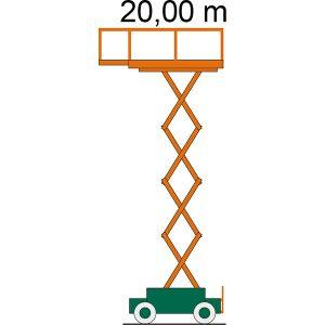 Arbeitsdiagramm Scherenbühne SB 20-1,2 E