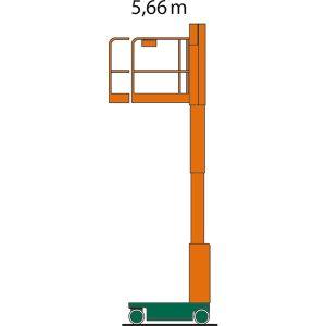 Diagrama cu înălțimea de lucru a ascensorului de pasageri SL 06 E