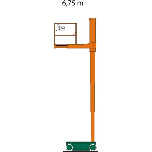 Arbeitshöhe der SL 07 E Vertikalmast-Arbeitsbühne